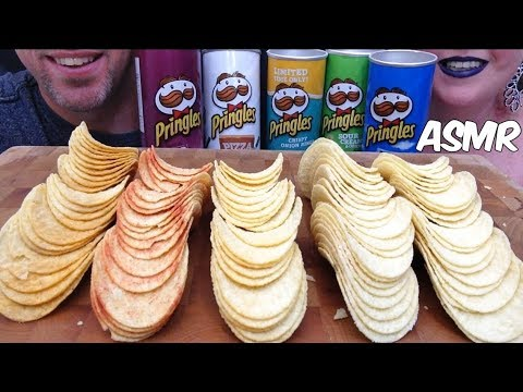 5 FLAVOURS OF PRINGLES ASMR *CRUNCHY EATING SOUNDS* (NO TALKING)