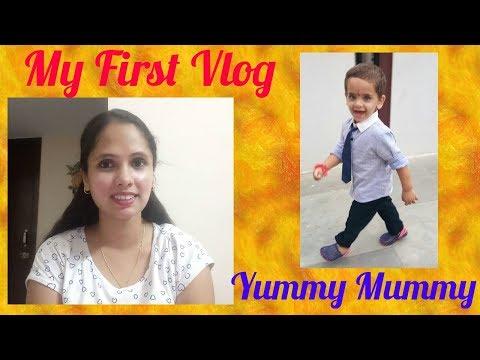 MY FIRST VLOGyummy mummy vlog