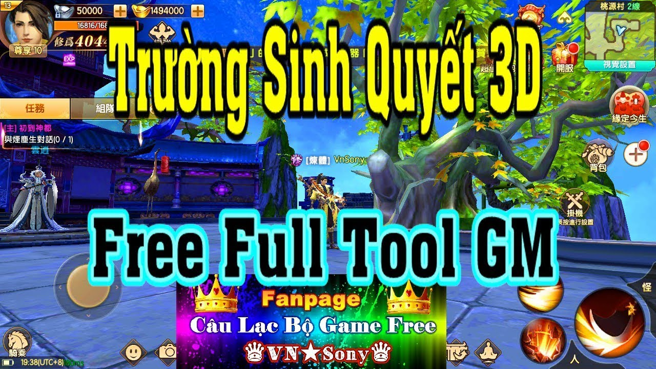 《MobileGame》Trường Sinh Quyết 3D – Free Full Tool GM