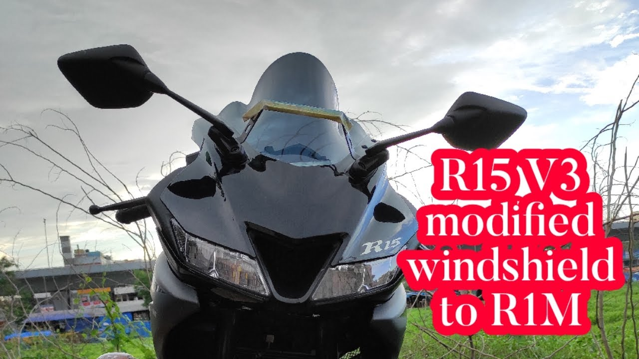 Finally Installed Windshield on  My Yamaha R15 V3 BS6 2020
