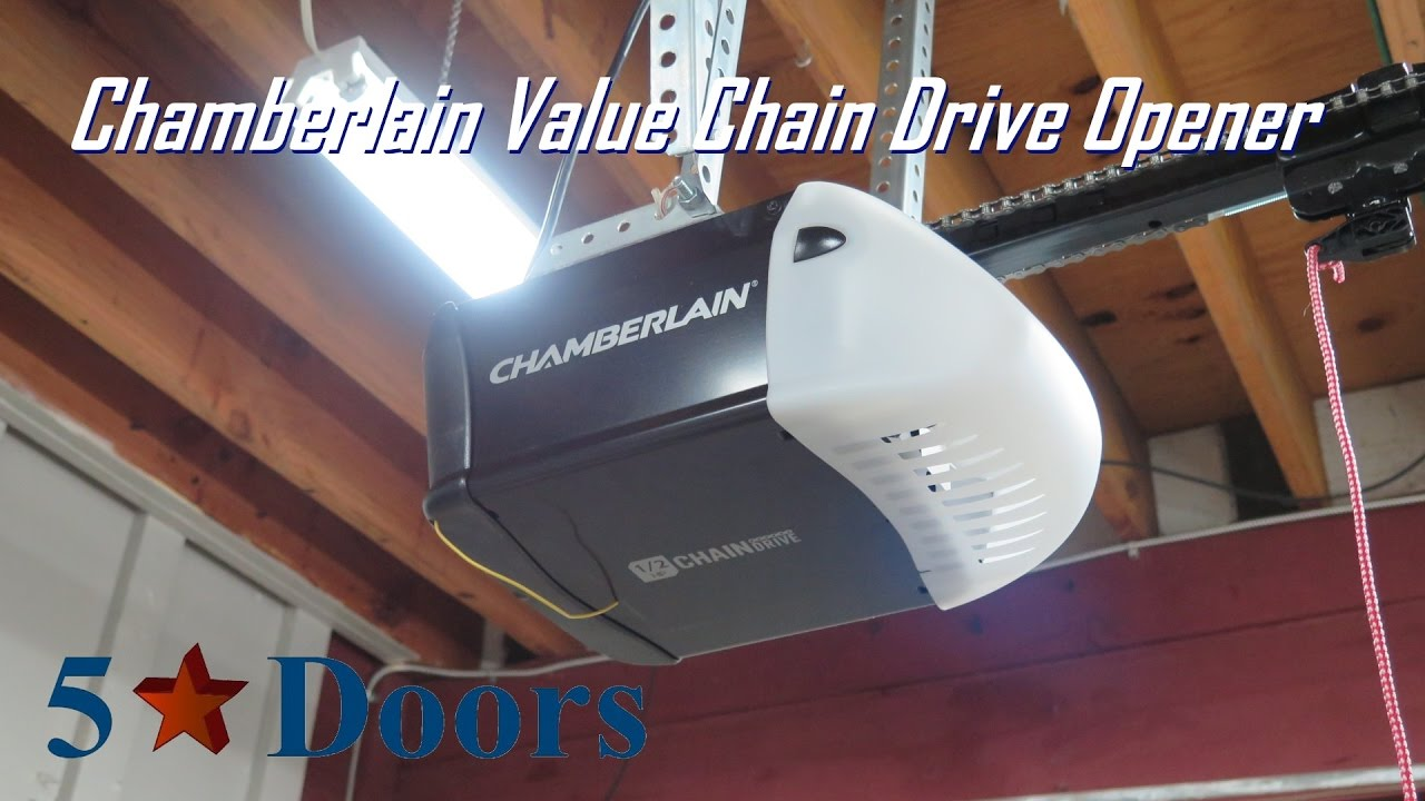 Chamberlain 1 2 Hp Value Chain Drive Opener Youtube