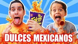 MI HIJO COME MAS PICANTE QUE YO !! PROBANDO DULCES MEXICANOS | HaroldArtist