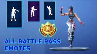 ALL BATTLE PASS DANCES (SEASON 2-6) | Fortnite