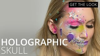 Download Holographic Skull Halloween Makeup Tutorial | Feelunique Mp3 and Videos