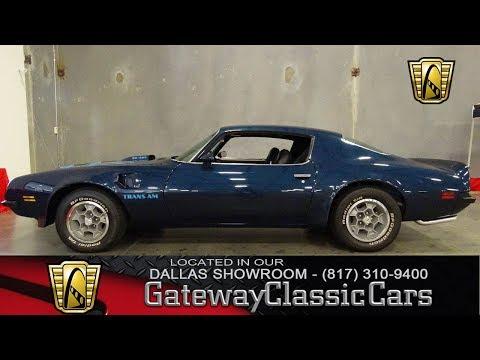 1974 Pontiac Trans Am Super Duty #591-DFW Gateway Classic Cars of Dallas