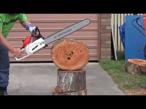 82 CC CHINESE CHAINSAW FIRST CUTS - YouTube