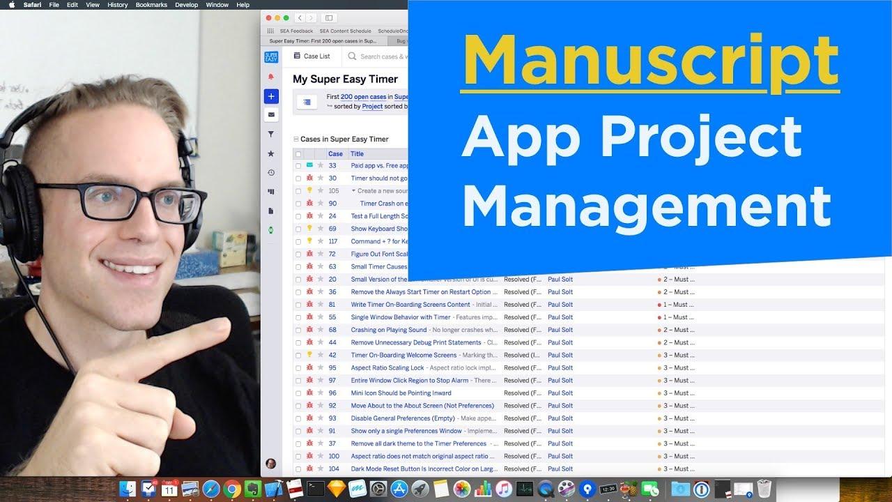 Fogbugz Free swift iphone app project management with manuscript (fogbugz)