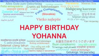 Yohanna   Languages Idiomas - Happy Birthday