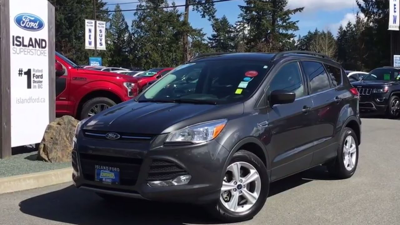 2015 ford escape se learher accident free awd backup camera review island ford youtube. Black Bedroom Furniture Sets. Home Design Ideas