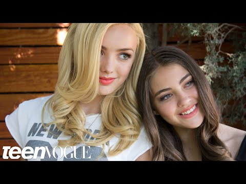 Best Friend Tag with Peyton List and BFF Kaylyn – Besties – Teen Vogue