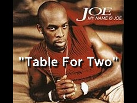 Joe - Table For Two - Pictorial w-Lyrics