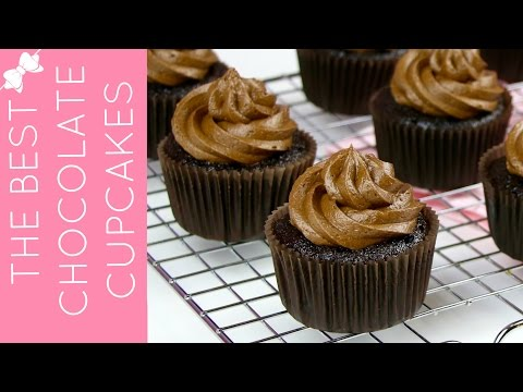 How To Make THE BEST Easy Chocolate Cupcakes from Scratch // Lindsay Ann Bakes