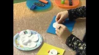 """Евгения Евсюкова. Студия """"Мастерилка"""" для детей от 4 до 6 лет.  Китёнок из ватных дисков"""