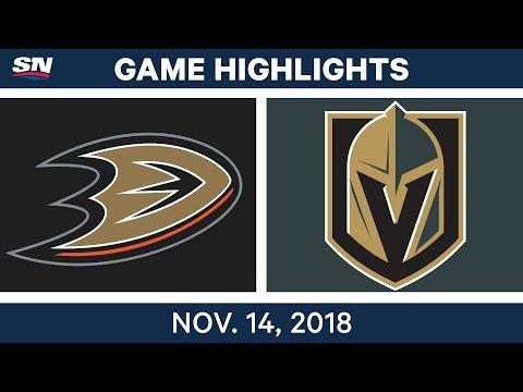 NHL Highlights | Ducks vs. Golden Knights – Nov. 14, 2018