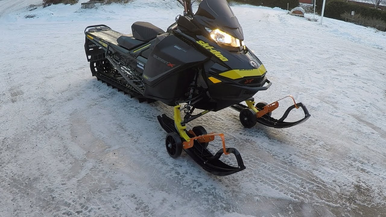 how to build a snowmobile dolly