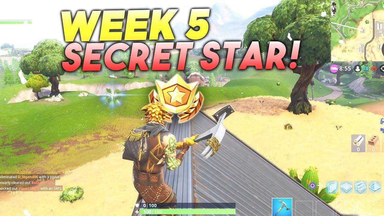 fortnite season 5 secret star