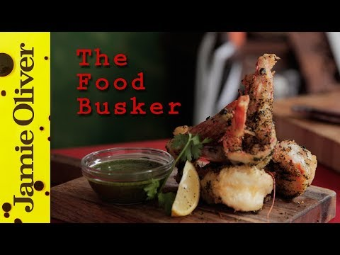 Sweet Tempura Shrimp   The Food Busker ft Newton Faulkner
