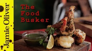 Sweet Tempura Shrimp | The Food Busker Ft Newton Faulkner