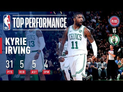 Kyrie Irving Gets BUCKETS At Home Vs Detroit | October 30, 2018