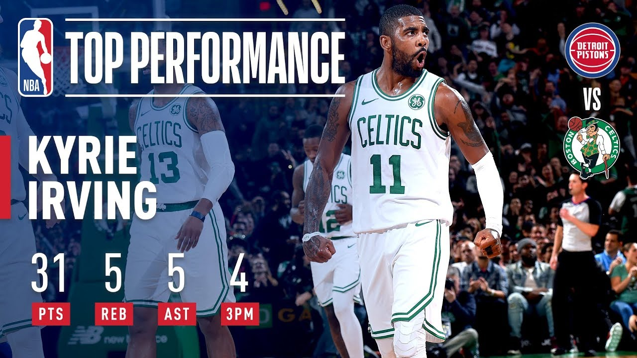 Kyrie Irving Gets BUCKETS At Home Vs Detroit  09c09e4c3