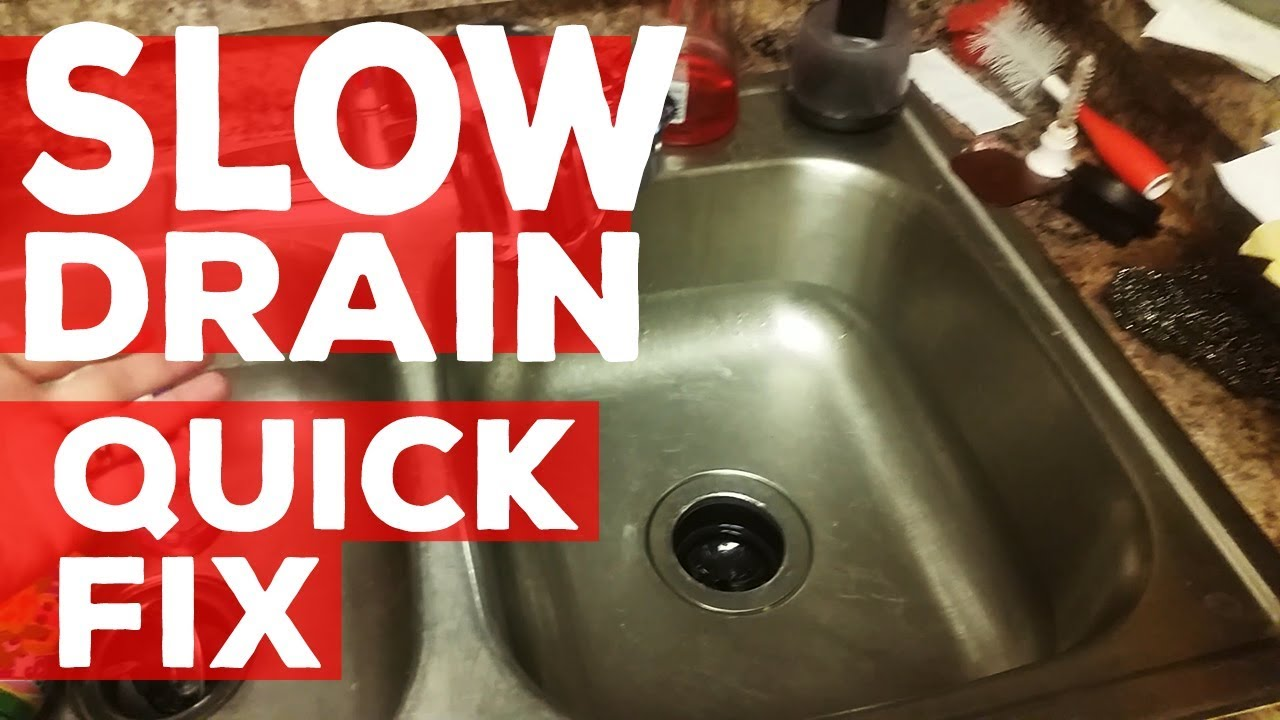 Awesome QUICK How To Fix A Slow Draining Kitchen Sink   DIY Home