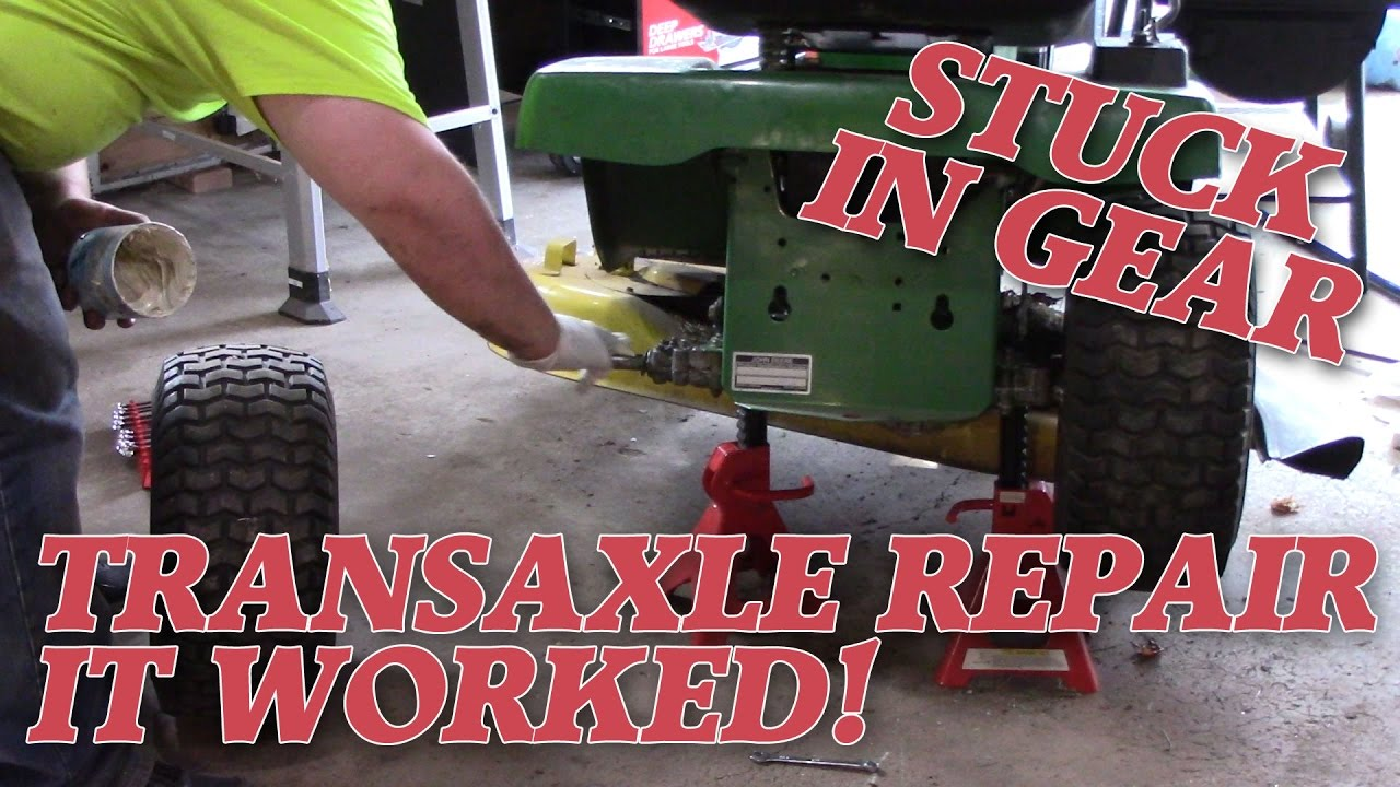 small resolution of peerless transaxle repair stuck in gear john deere stx38