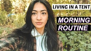 LIVING IN A TENT🌲: Super Cold Morning Routine In Yosemite | Hobo Ahle
