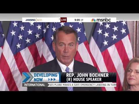Speaker John Boehner: Obamacare Hanging Over Economy Like a 'Wet Blanket'