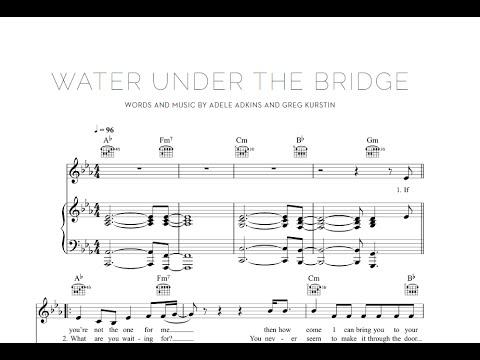 Water Under the Bridge  Adele Sheet & Midi Download