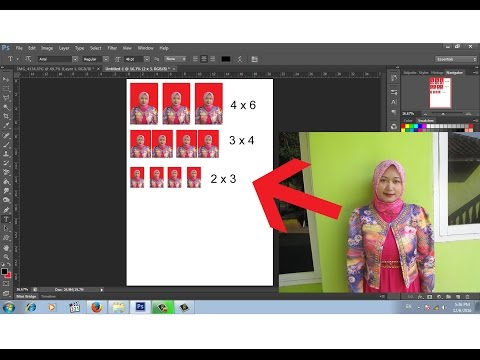 Cara mudah crop dan ganti latar pasfoto dengan photoshop.