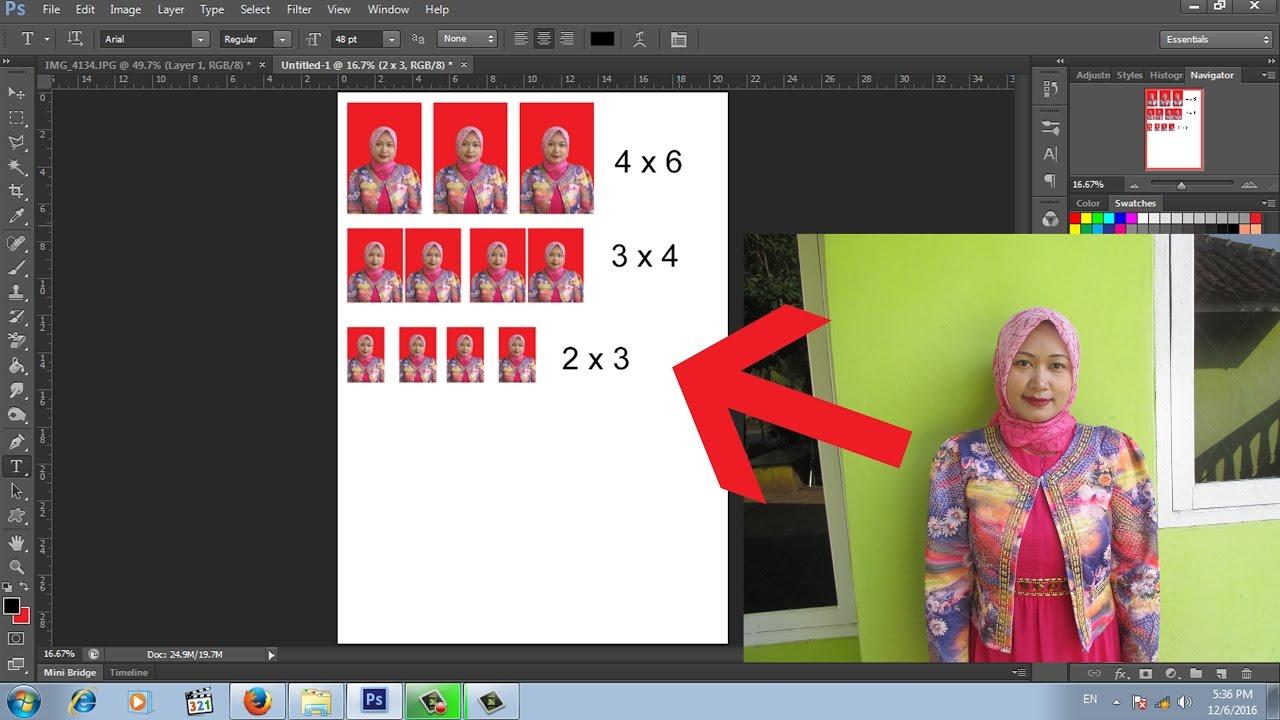 cara mudah membuat pas poto dengan photoshop - YouTube