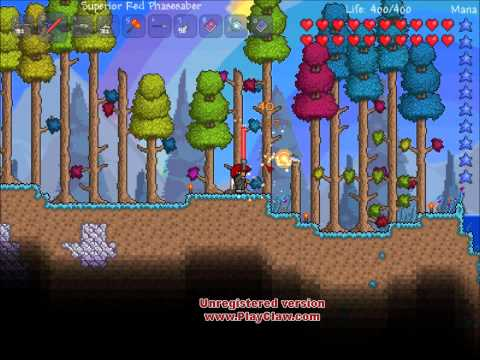 Terraria 1.1 Quick Gameplay - Greater Healing Potions