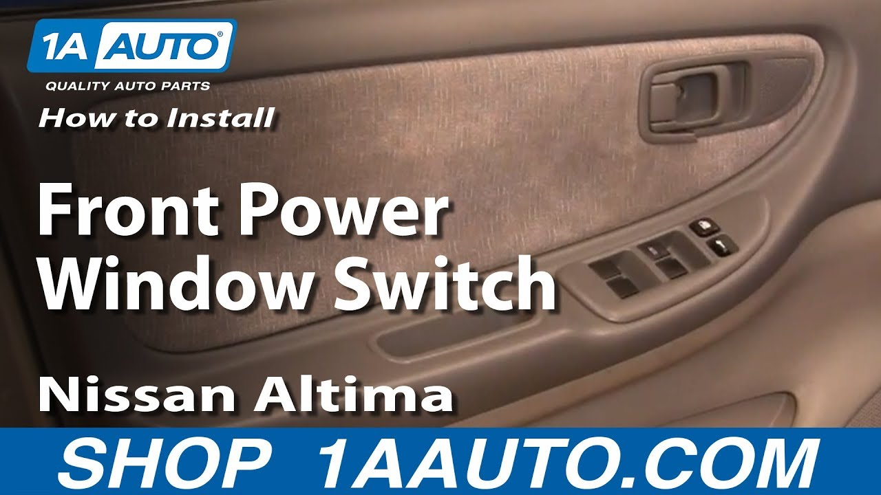 How to install replace front power window switch nissan for 1997 nissan sentra power window switch