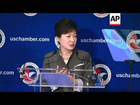Park Geun-hye comments on trade and North Korea