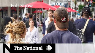 CBC News: The National   Potential fourth wave, Water advisories settlement, Barenaked Ladies