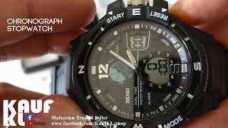 SKMEI 1148 Review Digital Analog Sport Fashion Water Resist Watch All Colours by KaufKL Malaysia