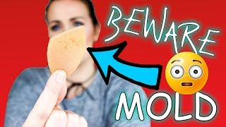 I FOUND MOLD IN MY MAKEUP SPONGE - REALTECHNIQUES / cleaning beauty blender (2018) | Clairetutorials