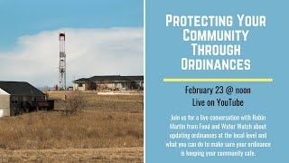 Community Lunch and Learn : Protecting Your Community Through Ordinances