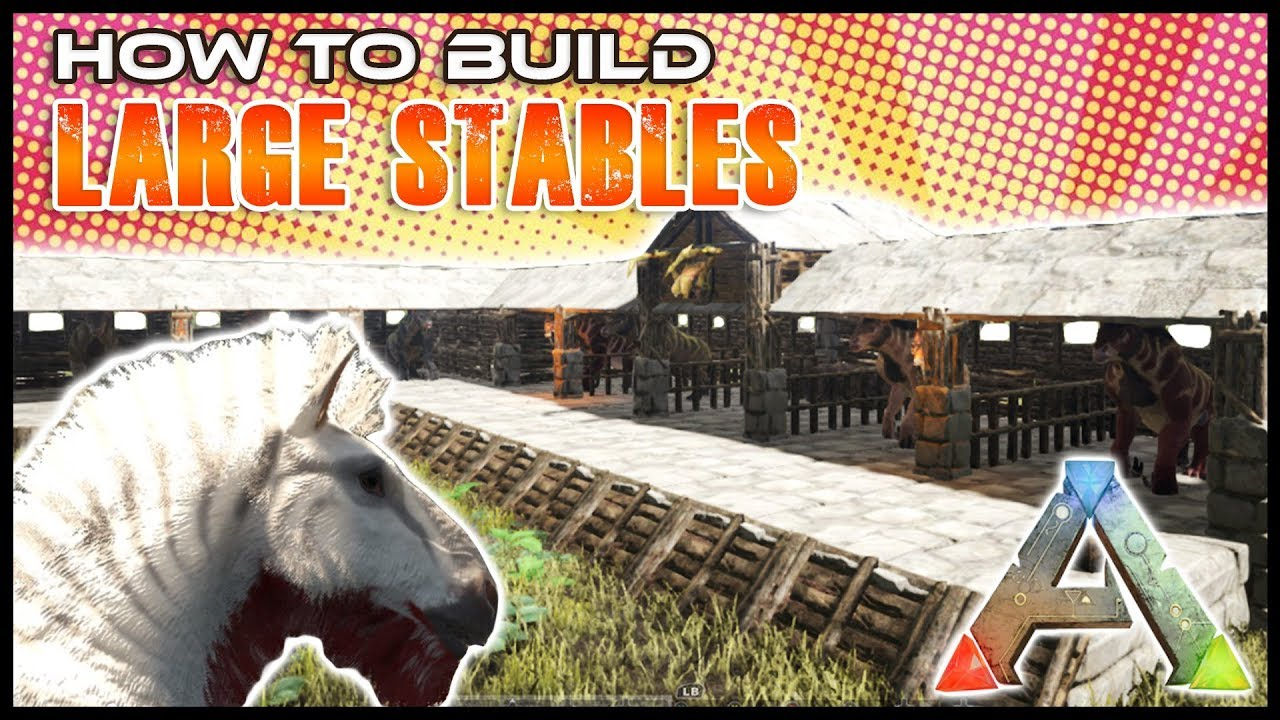 Equus Stable How To Build  Ark Survival  YouTube