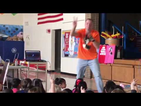 """Mr. Peace Raps about """"Peace, Love & Kindness"""" at Schafer Elementary School in Lombard, Illinois"""