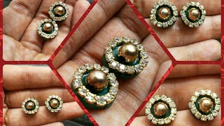 Party wear stud's in 5 mins DIY|Quilling earrings tutorials#5|How to make studs for parties