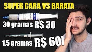 A VERDADE SOBRE PASTA TÉRMICA BARATA VS SUPER CARA, MUDA MUITO? Video
