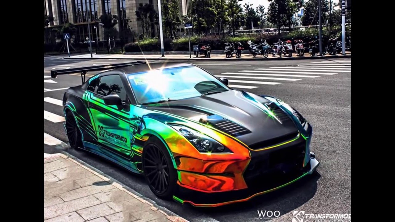 Wrap Chrome Rainbow Nissan Gt R Youtube
