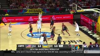 Fiba 2014 USA VS Ukraine 1st Half HD