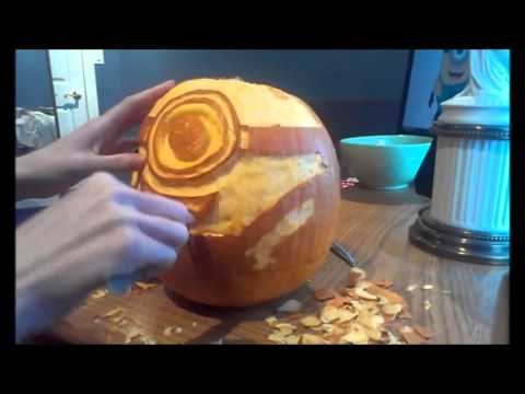speed pumpkin carving gru s minion despicable me youtube rh youtube com