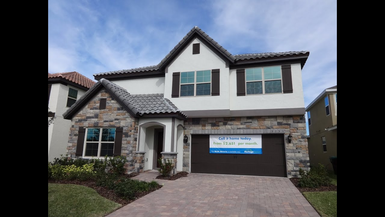 Lake Preserve by Meritage Homes - Montclair Model - Lake Nona/Orlando New  Homes