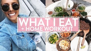 WHAT I EAT IN A DAY | At Home Workout | Healthy Dinner Party