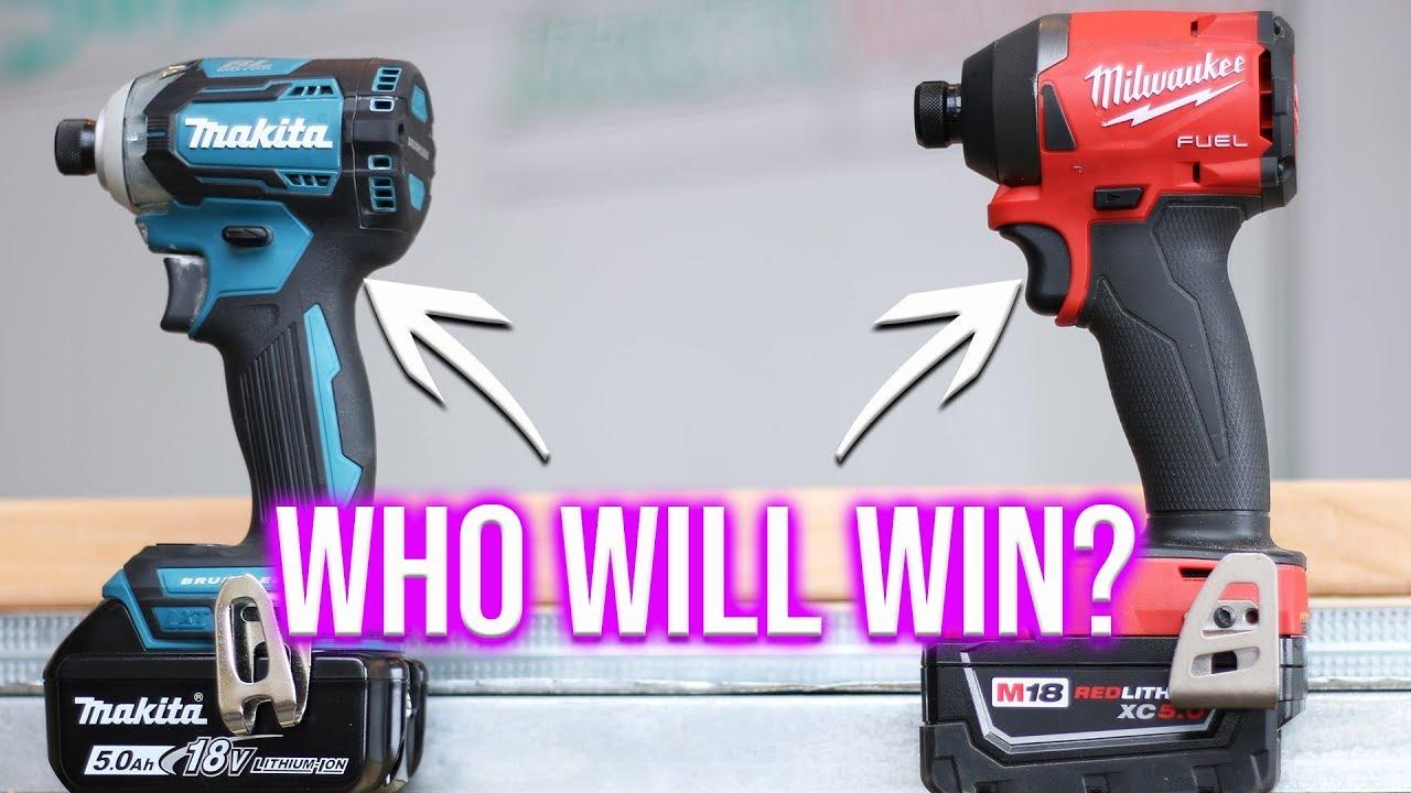 Milwaukee Tools VS Makita Tools - Best Impact Driver Tool Test!