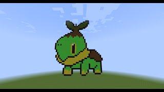 【DEVIL-KuN】Minecraft Speed Build Pixel Pokemon EP.1:Turtwig