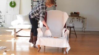 how to make a slipcover | part 3 | pinning & sewing the back & sides